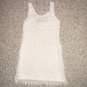 H&M Divided White Lace Shift Dress
